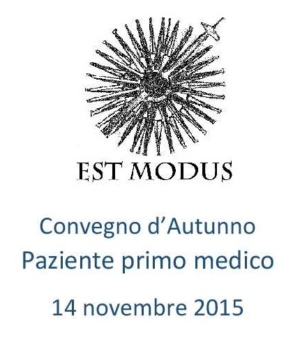Convegno d'autunno 2015: Paziente primo medico